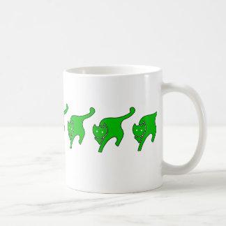 Green Kitty Coffee Mug