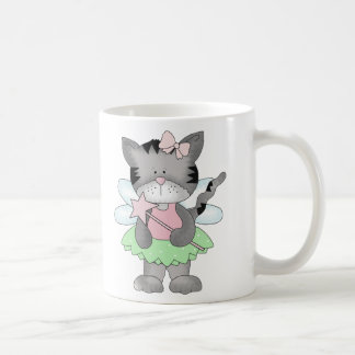 Green Kitty Fairy Coffee Mug