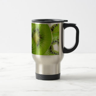 Green Kiwi Fruit Slices  - Fruit Print Travel Mug