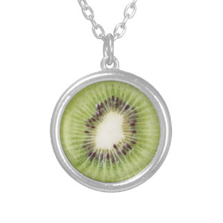 Green Kiwi Necklace Summer Pendant Fruit Food