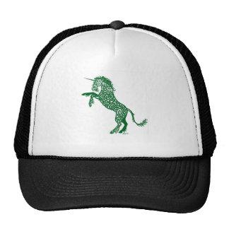 Green Knotwork Unicorn Hats