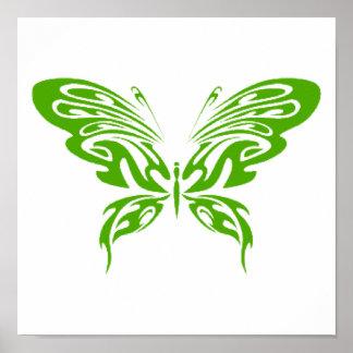 Green Lace Print