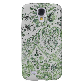 Green Lace Roses Galaxy S4 Case