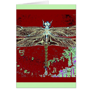 Green Lace Wing Dragonfly By Sharles Greeting Cards