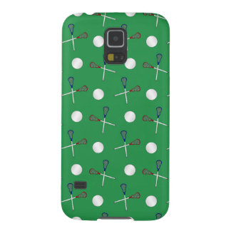 Green lacrosse pattern galaxy s5 cover