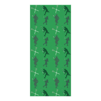 Green lacrosse silhouettes customized rack card