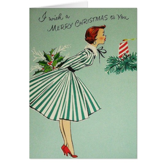 Green Lady Christmas Card