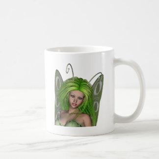 Green Lady Fairy 1 - 3D Fantasy Art - Coffee Mugs