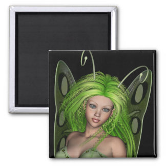 Green Lady Fairy 1 - 3D Fantasy Art - Magnet