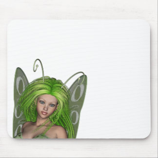 Green Lady Fairy 1 - 3D Fantasy Art - Mouse Pads