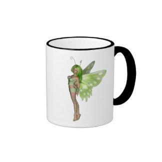 Green Lady Fairy 2 - 3D Fantasy Art - Coffee Mug