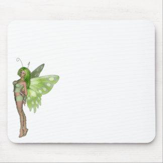 Green Lady Fairy 2 - 3D Fantasy Art - Mousepads