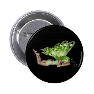Green Lady Fairy 3 - 3D Fantasy Art - Pinback Buttons