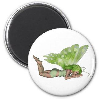 Green Lady Fairy 3 - 3D Fantasy Art - Fridge Magnets