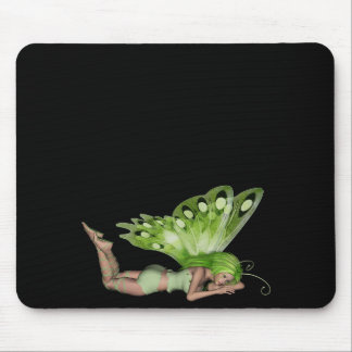 Green Lady Fairy 3 - 3D Fantasy Art - Mouse Pads