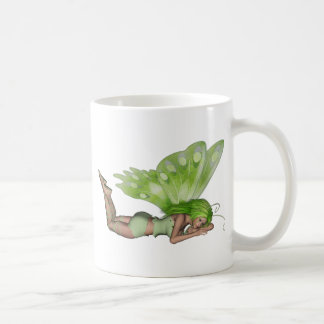 Green Lady Fairy 3 - 3D Fantasy Art - Mug