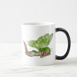 Green Lady Fairy 3 - 3D Fantasy Art - Mugs