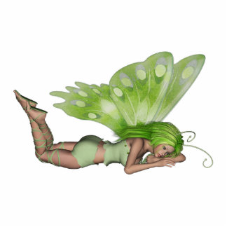 Green Lady Fairy 3 - 3D Fantasy Art - Photo Sculptures