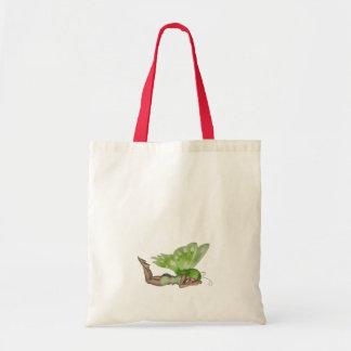 Green Lady Fairy 3 - 3D Fantasy Art - Budget Tote Bag