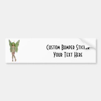 Green Lady Fairy 4 - 3D Fantasy Art - Bumper Stickers