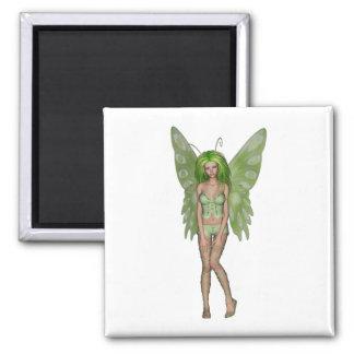 Green Lady Fairy 4 - 3D Fantasy Art - Fridge Magnets