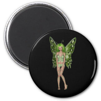 Green Lady Fairy 4 - 3D Fantasy Art - Magnets