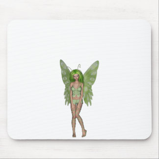 Green Lady Fairy 4 - 3D Fantasy Art - Mouse Pad