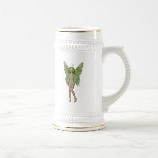 Green Lady Fairy 4 - 3D Fantasy Art - Coffee Mug