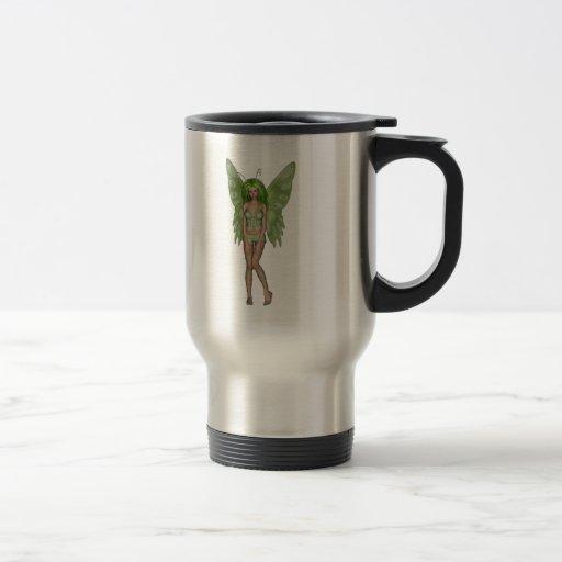 Green Lady Fairy 4 - 3D Fantasy Art - Mug
