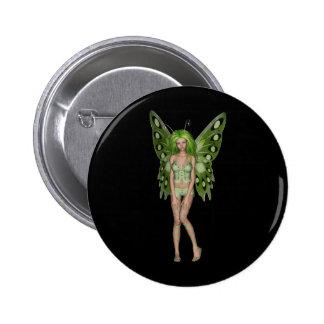 Green Lady Fairy 4 - 3D Fantasy Art - Pin