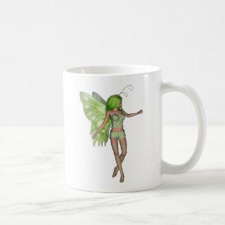 Green Lady Fairy 5 - 3D Fantasy Art - Coffee Mug