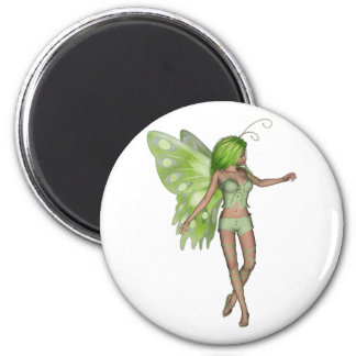 Green Lady Fairy 5 - 3D Fantasy Art - Fridge Magnet