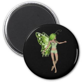 Green Lady Fairy 5 - 3D Fantasy Art - Refrigerator Magnets
