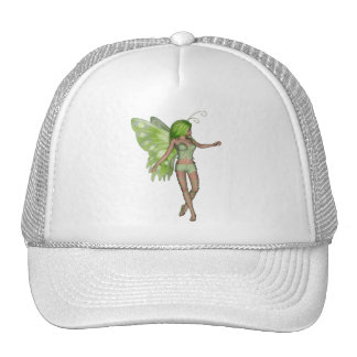Green Lady Fairy 5 - 3D Fantasy Art - Mesh Hat