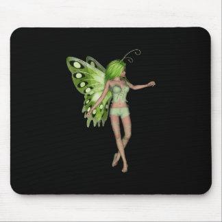 Green Lady Fairy 5 - 3D Fantasy Art - Mousepad