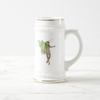 Green Lady Fairy 5 - 3D Fantasy Art - Mug