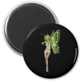 Green Lady Fairy 6 - 3D Fantasy Art - Magnet