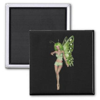 Green Lady Fairy 6 - 3D Fantasy Art - Magnets