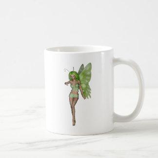 Green Lady Fairy 6 - 3D Fantasy Art - Mugs