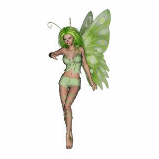 Green Lady Fairy 6 - 3D Fantasy Art - Acrylic Cut Out