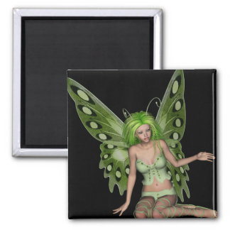 Green Lady Fairy 7 - 3D Fantasy Art - Fridge Magnets