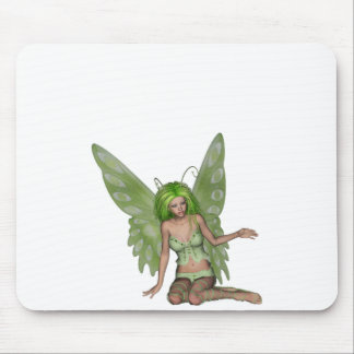 Green Lady Fairy 7 - 3D Fantasy Art - Mouse Pads