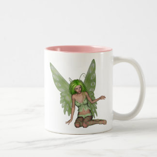 Green Lady Fairy 7 - 3D Fantasy Art - Coffee Mug