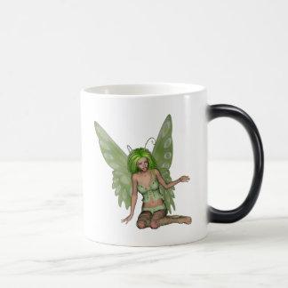 Green Lady Fairy 7 - 3D Fantasy Art - Mugs