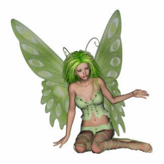 Green Lady Fairy 7 - 3D Fantasy Art - Photo Cutouts