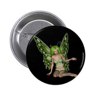 Green Lady Fairy 7 - 3D Fantasy Art - Pins