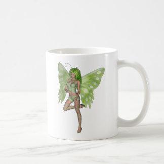 Green Lady Fairy 8 - 3D Fantasy Art - Coffee Mugs
