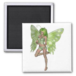 Green Lady Fairy 8 - 3D Fantasy Art - Magnets