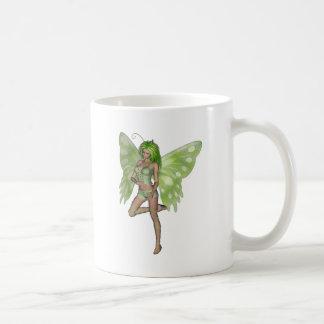 Green Lady Fairy 8 - 3D Fantasy Art - Coffee Mug