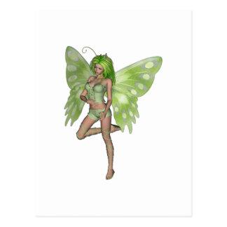 Green Lady Fairy 8 - 3D Fantasy Art - Postcard